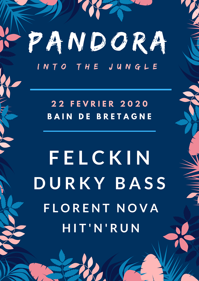 Programmation artistes DJ pandora festival 2020 into the jungle bain de bretagne